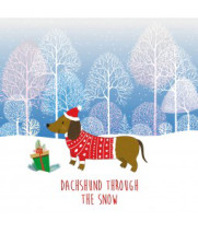 Dachshund Christmas card
