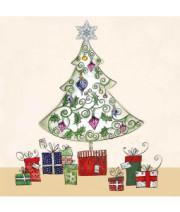 Christmas tree and gifts Christmas card