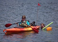 Kyle in kayak.
